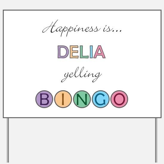 Delia BINGO Yard Sign