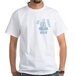 Light Blue WIN Ribbon White T-Shirt