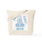 Light Blue WIN Ribbon Tote Bag