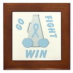 Light Blue WIN Ribbon Framed Tile