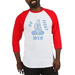 Light Blue WIN Ribbon Baseball Jersey