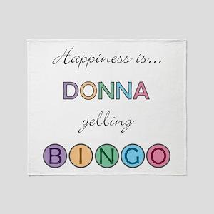 Donna BINGO Throw Blanket