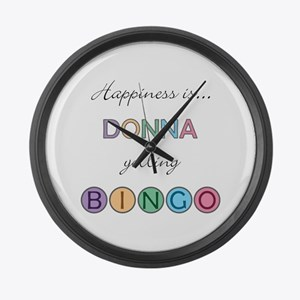 Donna BINGO Large Wall Clock