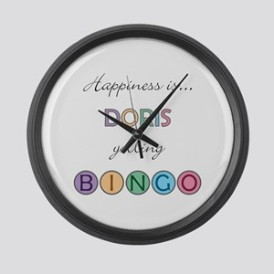 Doris BINGO Large Wall Clock