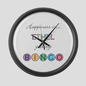 Ethel BINGO Large Wall Clock