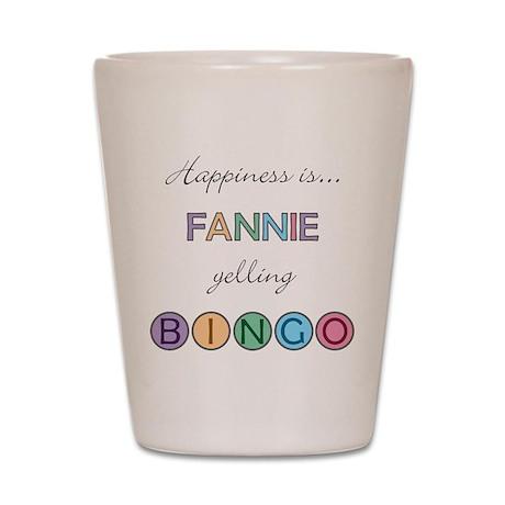 Fannie BINGO Shot Glass