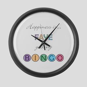 Faye BINGO Large Wall Clock