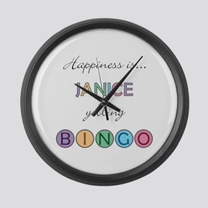 Janice BINGO Large Wall Clock