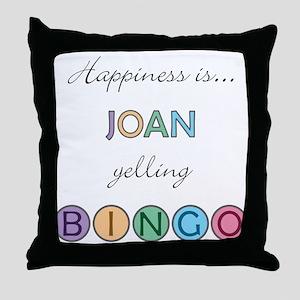 Joan BINGO Throw Pillow