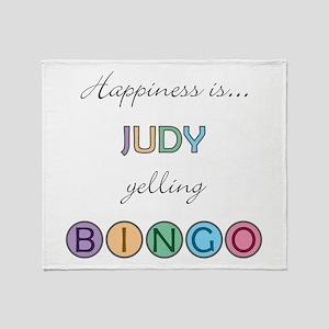 Judy BINGO Throw Blanket