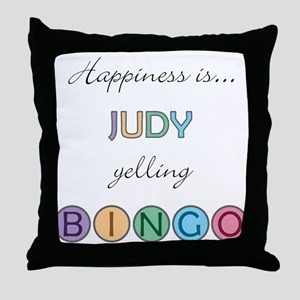 Judy BINGO Throw Pillow