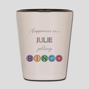 Julie BINGO Shot Glass