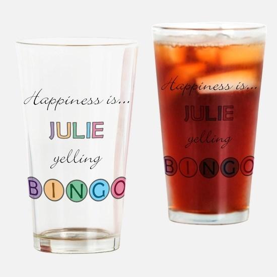 Julie BINGO Drinking Glass