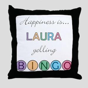 Laura BINGO Throw Pillow