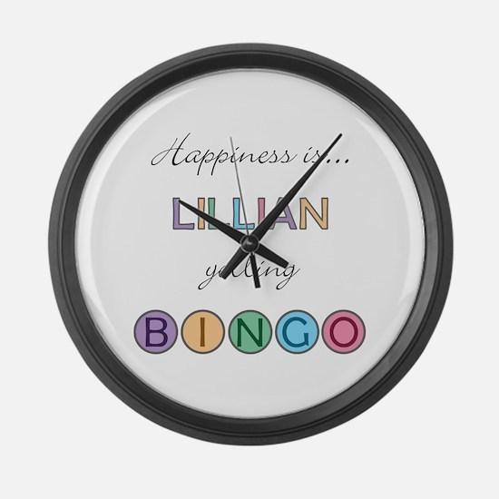 Lillian BINGO Large Wall Clock