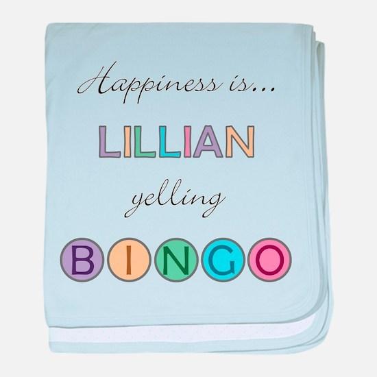 Lillian BINGO baby blanket