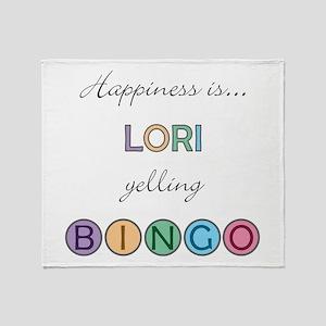 Lori BINGO Throw Blanket