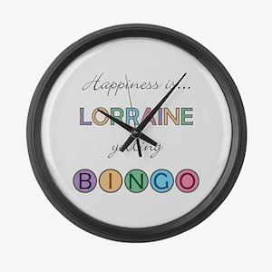 Lorraine BINGO Large Wall Clock