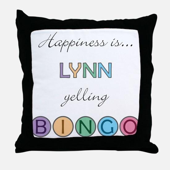 Lynn BINGO Throw Pillow