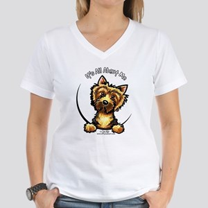 Norwich Terrier IAAM Women's V-Neck T-Shirt