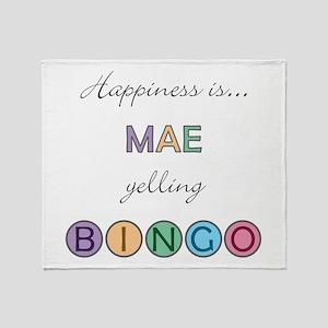 Mae BINGO Throw Blanket