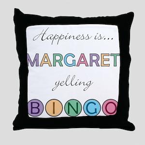 Margaret BINGO Throw Pillow