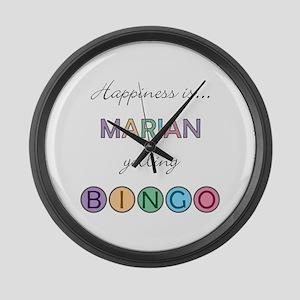 Marian BINGO Large Wall Clock