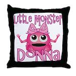 Little Monster Donna Throw Pillow