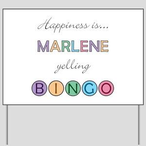 Marlene BINGO Yard Sign