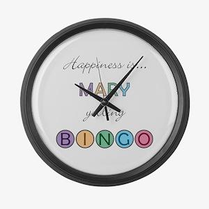 Mary BINGO Large Wall Clock