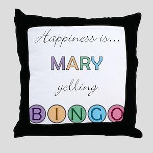 Mary BINGO Throw Pillow