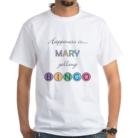 Mary BINGO White T-Shirt