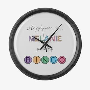 Melanie BINGO Large Wall Clock