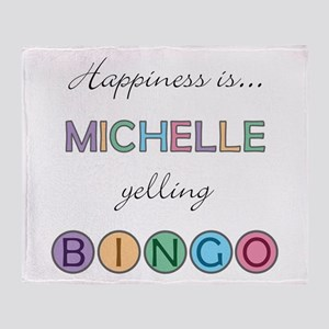 Michelle BINGO Throw Blanket