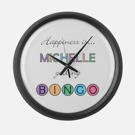 Michelle BINGO Large Wall Clock