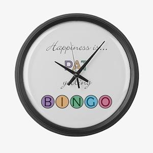 Pat BINGO Large Wall Clock