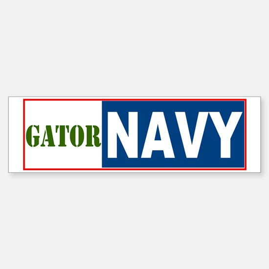 Gator Navy Bumper Bumper Bumper Sticker