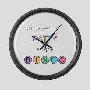 Patty BINGO Large Wall Clock