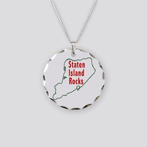 Staten Island Rocks Necklace Circle Charm