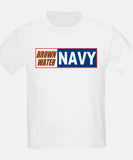 Brown Water Navy Kids T-Shirt