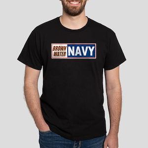 Brown Water Navy Black T-Shirt