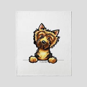 Norwich Terrier Line Art Throw Blanket