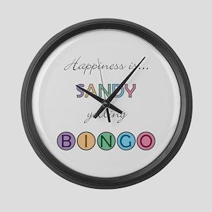 Sandy BINGO Large Wall Clock