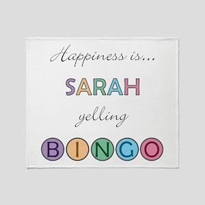 Sarah BINGO Throw Blanket