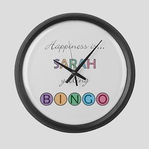 Sarah BINGO Large Wall Clock