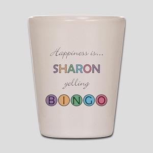 Sharon BINGO Shot Glass