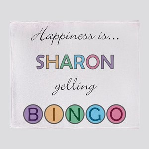 Sharon BINGO Throw Blanket