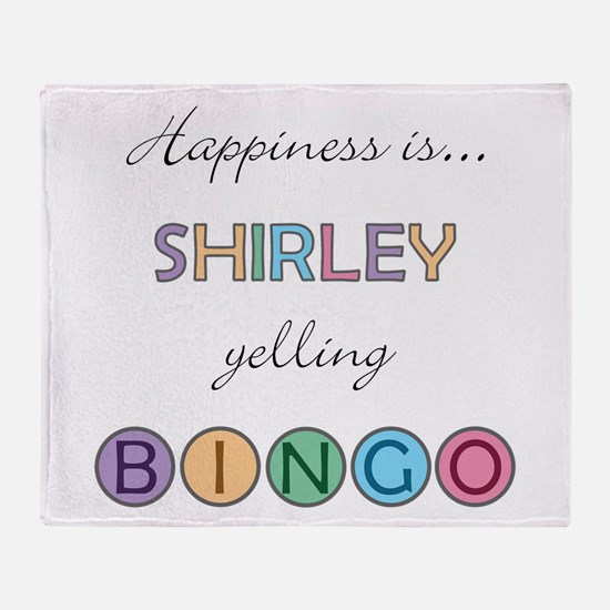 Shirley BINGO Throw Blanket