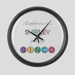 Shirley BINGO Large Wall Clock