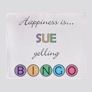Sue BINGO Throw Blanket